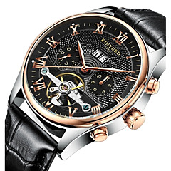 KINYUED Masculino Relógio Elegante Relógio Esqueleto Relógio de Pulso relógio mecânico Calendário Cronógrafo ImpermeávelAutomático - da