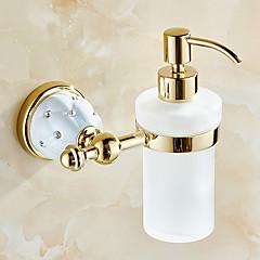 Antique Brass Wall-mounted  Bathroom Accessories Soap Dispenser