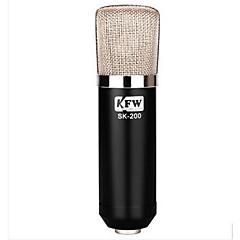 "KFW מחווט מיקרופון לקריוקי 3.5מ""מ שחור"