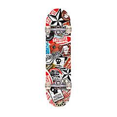 Skates padrão Profissional ABEC-7-Red Brown Bandeiras
