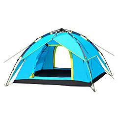 3-4 사람 텐트 싱글 접이식 텐트 원 룸 캠핑 텐트 유리 섬유 폴리에스터 옥스퍼드 방수 비 방지 바람 방지 모기&해충 퇴치 폴더-하이킹 캠핑 여행 야외