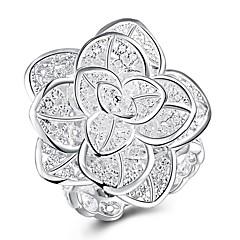 Prstýnky Párty Denní Ležérní Šperky Měď Postříbřené Prsten 1ks,8 Stříbrná