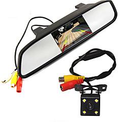 高解像度の5色のHD TFT液晶カーバックミラーモニターオートリアビューカメラ、駐車監視システムとの800 * 480