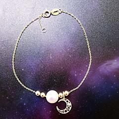 צמידים צמידי צ'ארם פנינה Star Shape טבע אופנתי חתונה Party ארוסים תכשיטים מתנות מוזהב,1pc