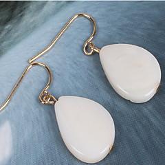 ドロップイヤリング 設定ピアス シンプルなスタイル 樹脂 シェル 合金 ミルクホワイト ジュエリー のために 日常 カジュアル 1ペア