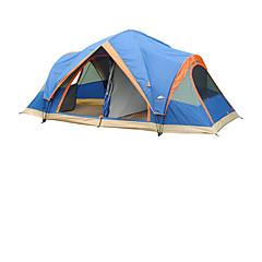 5-8 사람 텐트 더블 베이스 가족 캠프 텐트 트리 룸 캠핑 텐트 폴리에스터 방수 호흡 능력 바람 방지-하이킹 캠핑 여행 야외