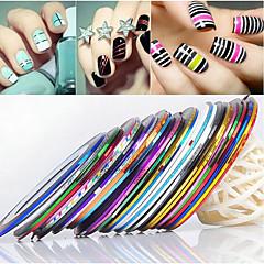 24PCS mixs Color striping Tape Stripe linie Nail Tape Nail Art de decorare autocolant