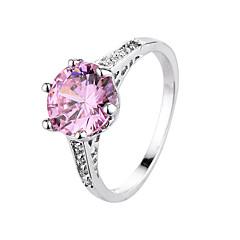 指輪 ジルコン キュービックジルコニア スチール ファッション ブラック ローズピンク ジュエリー 日常 1個