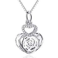 Anhänger Sterling Silber Imitation Diamant Basis Design Herz Silber Schmuck Alltag Normal 1 Stück