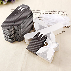 New Style stripe Bride and Groom Clothing Candy Box (Set of 12) Tile Delivery