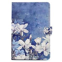 För med stativ Mönster fodral Heltäckande fodral Blomma Hårt PU-läder för Apple iPad Mini 4 iPad Mini 3/2/1