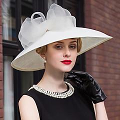 Δαντέλα Λινάρι Headpiece-Γάμος Ειδική Περίσταση Υπαίθριο Καπέλα 1 Τεμάχιο