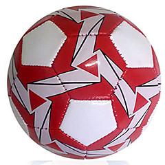 Football(Blanc Rouge,Cuir)Haute élasticité Durable