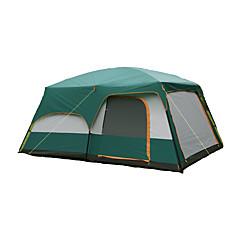 >8 osob Stříška Dvojitý Rodinné stany tři pokoje Camping Tent Polyester Voděodolný Prodyšnost Odolný vůči větru-Turistika Kempink