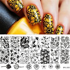 né joli timbre nail art modèle estampage outil ongles plaque d'image au pochoir