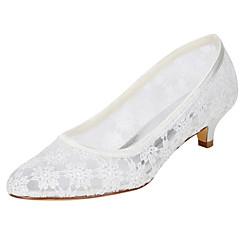 Women's Wedding Shoes Spring Summer Comfort Stretch Satin Wedding Party & Evening Dress Kitten Heel Applique