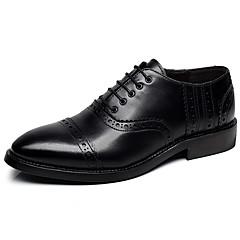 גברים-נעלי אוקספורד-עור-מוקסין סוליות מוארות נעלי בולוק נעלי זוג נעליים פורמלית נוחות--חתונה משרד ועבודה מסיבה וערב-עקב שטוח