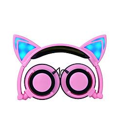 Cute Cartoon Foldable Light Headband Chlidren Headphones Kids Hearing Protection 3.5mm Wired Headset