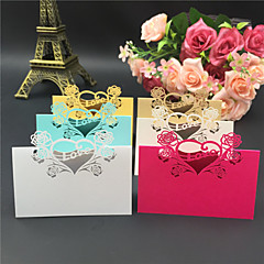 40pcs Love Heart Laser Cut Wedding Party Table Name Place Cards Favor Wedding Party Decoration Wedding Favors Party Supplies