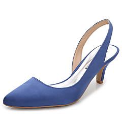 נשים-סוגי כפכפים-משי-רצועה אחורית-לבן ורוד בהיר כחול ים-חתונה משרד ועבודה שמלה מסיבה וערב-עקב סטילטו