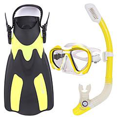Kit para Snorkel Kits para Snorkeling Snorkels Fins de Mergulho Máscaras de mergulho Snorkel Seco Mergulho e SnorkelingVidro Borracha
