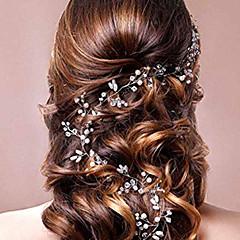 真珠 クリスタル かぶと-結婚式 パーティー ヘッドバンド ヘッドチェーン 1個