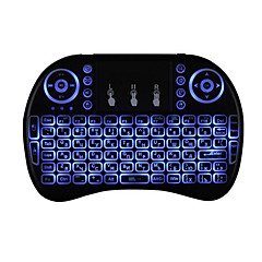 Air Mouse Keyboard Backlit Flying Squirrels I8 Wireless TV Box and PC with Touchpad-Russian Version