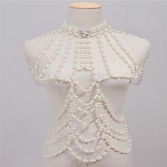 Žene Nakit za tijelo Tijelo Chain / Belly Chain Moda Vintage Ručno izrađen Imitacija bisera Umjetno drago kamenje Legura Obala Jewelry Za
