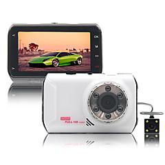 Naway® carro dvr 170 graus de lente dupla 3 polegadas de grande angular infravermelho visão noturna loop vídeo gravador g-senser