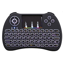 Air Mouse Keyboard Backlit Flying Squirrels H9 Colorful Lights 2.4GHz Wireless for Android TV Box and PC with Touchpad