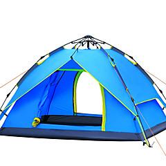 3-4 אנשים אוהל כפול אוהל אוטומטי חדר אחד קמפינג אוהל סיבי זכוכית עמיד אולטרה סגול עמיד ברוח-צעידה קמפינג-כחול שמיים