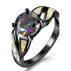 Dames Ring Verlovingsring Opaal Modieus PERSGepersonaliseerd Euramerican Luxe Sieraden Kostuum juwelen Koper Verguld Sieraden Voor