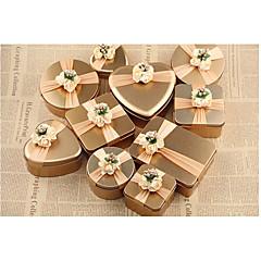 10 Darab / készlet Favor Holder-Kocka alakú/köb Vas (nikkelezett) Cukorkás üvegek és tartók Ajándékdobozok Nem személyre szabott
