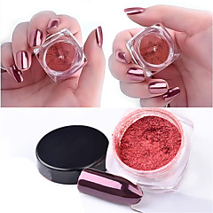 2g/box Rose Gold Magic Mirror Nail Glitter Powder Manicure Nail Art Glitter Chrome Pigment Decoration Tools