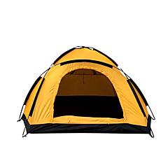 2 사람 텐트 싱글 접이식 텐트 원 룸 캠핑 텐트 <1000mm 옥스포드 유리 섬유 따뜨하게 유지 수분 방지 방수 방풍 비 방지 통기성-하이킹 캠핑 여행 야외-