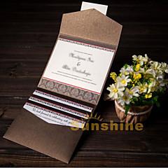 Tri-Dobrado Convites de casamento 50-Cartões de convite Papel Acetinado Gaivota