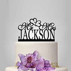Decorações de Bolo Personalizado Acrilíco Casamento Aniversário Despedida de Solteira Tema  Jardim Tema Clássico Tema rústico PPO