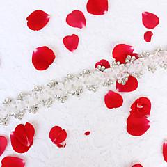 Organza Lichtmetaal Huwelijk Feest/Uitgaan Dagelijks gebruik Sjerp-Bloemen Strass Bloemen Strass