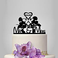 Figurky na svatební dort Přizpůsobeno Vtipné a neochotné AkrylSvatba Výročí Párty pro nevěstu Dárky pro novorozeně 15. narozeniny a