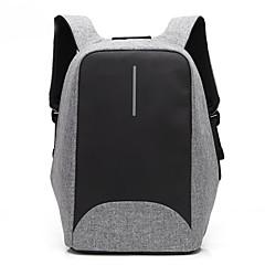 Tissu de nylon imperméable à l'eau de couture pour ordinateur portable de 15,6 pouces avec sac à dos USB pour ordinateur portables pour