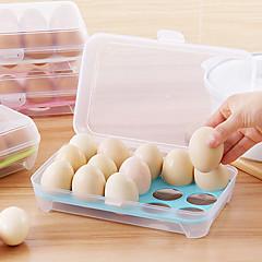 1pcs 15 em branco cozinha geladeira ovos armazenamento caixa titular preservação caixa portátil plástico colocar ovos caixa home cozinha