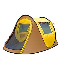"""3-4 אנשים אוהל אביזרים לאוהל יחיד אוהל אוטומטי חדר אחד קמפינג אוהל 1000-1500 מ""""מ סיבי זכוכית אוקספורד סרט כסףעמיד ללחות עמיד למים נשימה"""