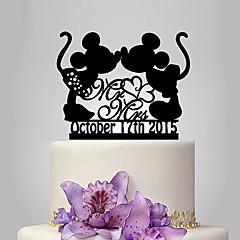 קישוטים לעוגה מותאם אישית מצחיק ומסויג אקרילי חתונה יום שנה מסיבה לכלה נושא קלאסי נושא אגדות OPP