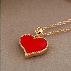 Dámské Náhrdelníky s přívěšky Řetízky Šperky Imitace perly Heart Shape SlitinaZákladní design Jedinečný design Logo Visací láska Srdce