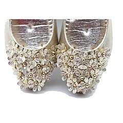 Women's Shoes Glitter Kitten Heel Heels Pumps/Heels Wedding/Outdoor/Dress/Casual Silver/Gold