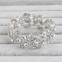 Mulheres Bracelete Moda Strass Formato de Flor Jóias Para Casamento Festa Ocasião Especial Aniversário Noivado Presentes de Natal 1peça