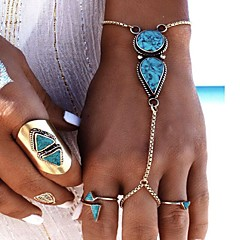 Women's Ring Bracelet Turquoise Fashion Alloy Geometric Jewelry For Party Birthday Gift Valentine 1pc