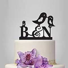 קישוטים לעוגה מותאם אישית חתימה אקרילי חתונה יום שנה מסיבה לכלה נושאי גן נושא קלאסי נושא אגדות OPP