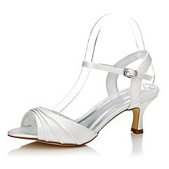 Dame bryllup sko Komfort Dyeable Sko Silke Vår Sommer Formell Fest/aften Komfort Dyeable Sko Lav hæl Krystall 5 - 7 cm