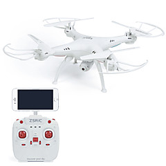 Drone 4 Kanaals 6 AS 2.4G Met 0.3MP HD Camera RC quadcopterLED-verlichting Terugkeer Via 1 Toets Failsafe Headless-modus 360 Graden Fip
